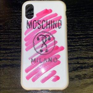 Moschino Milano IPhoneX graphic phone 📱 case